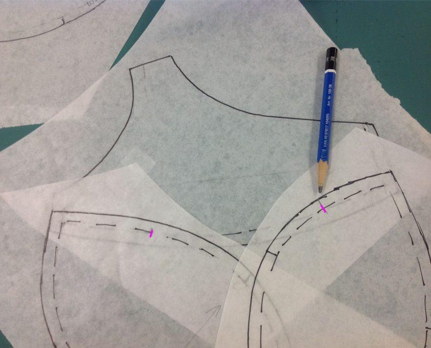 how to draft a vintage nursing bra half way points
