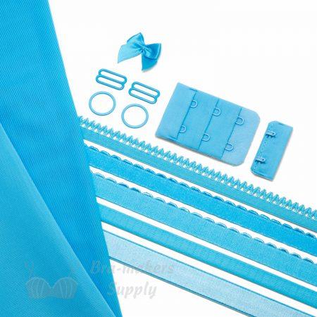 single bra kit-small KS-1 turquoise pantone 14-4522 bachelor button from Bra-Makers Supply