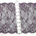 Eight Inch Deep Purple Eyelash Floral Pre-Cut Stretch Lace